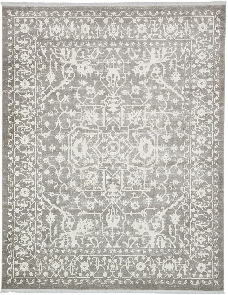 Light Gray 8' x 10' New Vintage Rug | Area Rugs | eSaleRugs