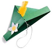 GERMANY: Edelweiss Hat- for holidays around the world craft in Dec.