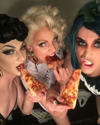 Violet Chachki, Courtney Act and Adore Delano