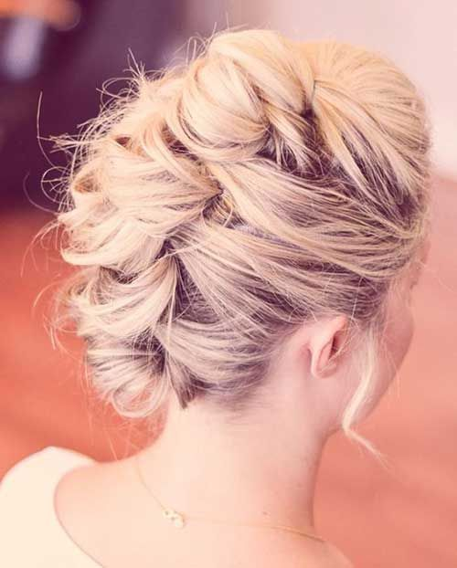 13.Updo for Short Hairstyles