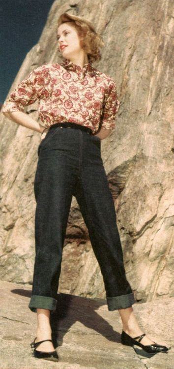 Grace Kelly, perfection. This is how you should wear jeans. Low rise, be gone!