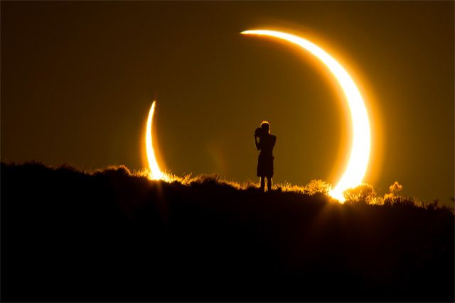 Smithsonian Magazine's 10th Annual Photo Contest Finalist - Photograph of solar eclipse by Colleen Pinski.