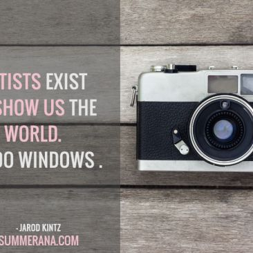 Artists Exist to Show Us The World, So Do Windows
