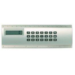 15cm jumbo ruler, twin calibration, calculator set within, plastic. Boxed.