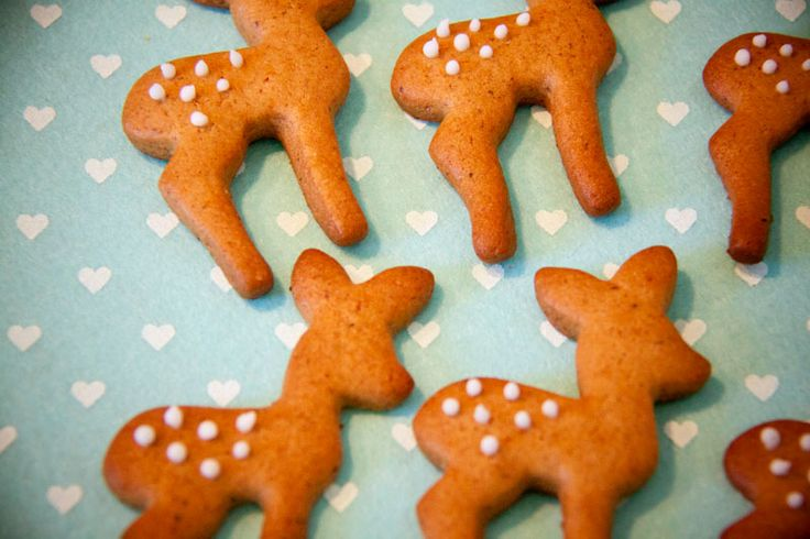 Deer gingerbread biscuits