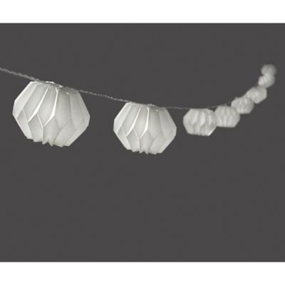 Origami Paper 10-Light LED String Lights in White - Bed Bath & Beyond