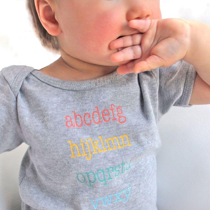 ABC   Heather Grey Baby Onesie