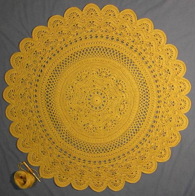 10 Free Crochet Doily Patterns: Rings of Change Crochet Doily Free Pattern