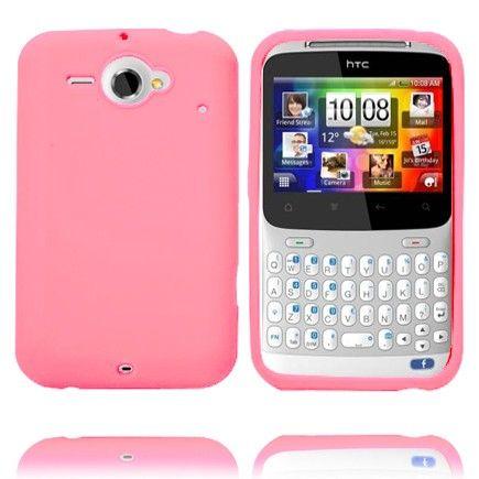 Soft Shell (Vaaleanpunainen) HTC ChaCha Silikonisuojus