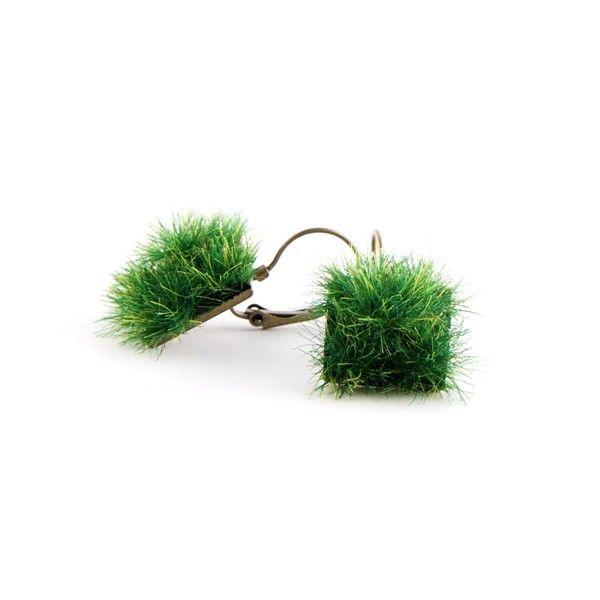 Rasen Ohrringe - quadratisch von Schmuck mit Seele - Megi Mikos auf DaWanda.com