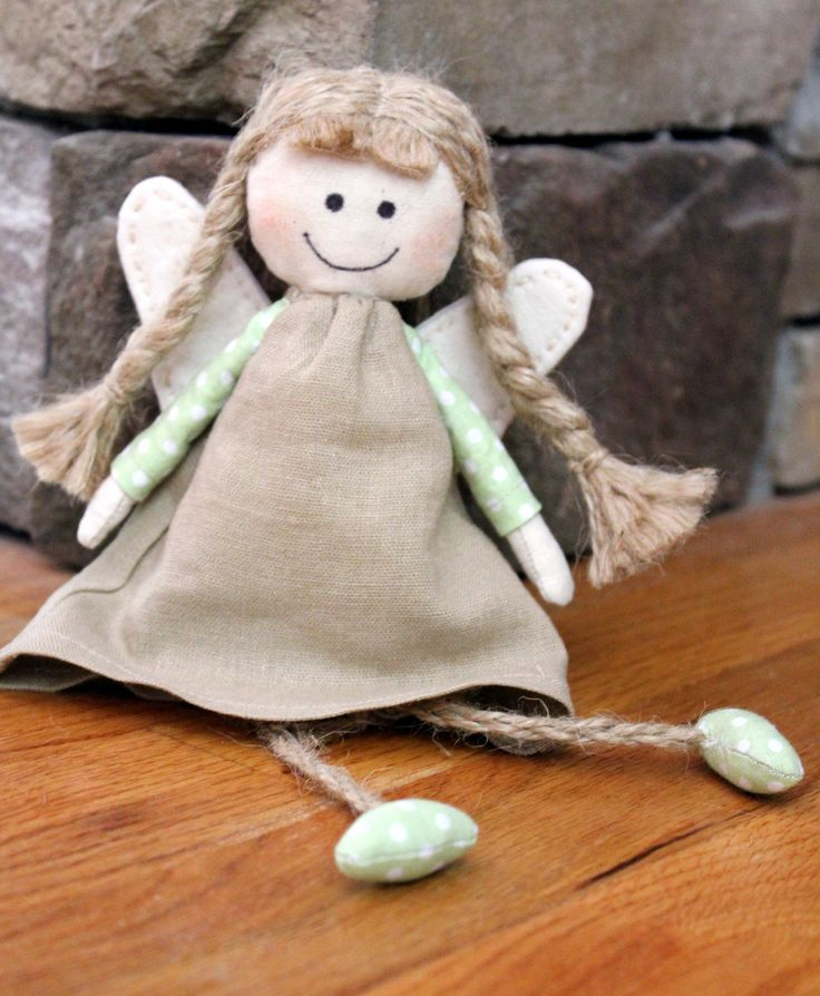 Hand Sewn Angel Gift For Everyone Stuffed Angel Doll