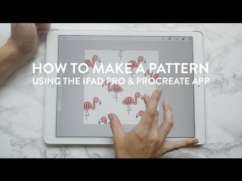How to Make a Pattern on an iPad Pro with the Apple Pencil and Procreate App - YouTube