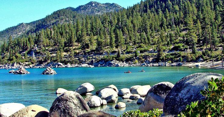 Nos EUA, lago Tahoe combina praias de água doce com paisagens montanhosas
