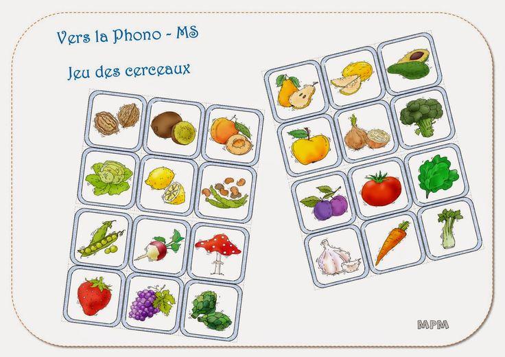 Imagier des fruits et légumes - Vers la phono MS Blog mapetitematernelle