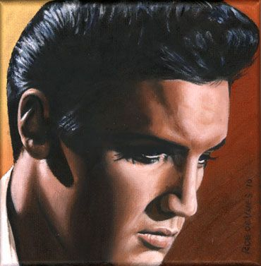 418 best Art by Sara Lynn Sanders images on Pinterest ...  |1977 Elvis Painting