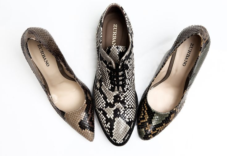 Zurbano python leather shoes collection
