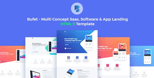 Bufet - Multi Concept App, Saas and Software Landing Page