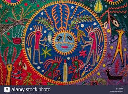 Image result for huichol yarn painting