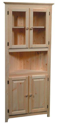 Unfinished Furniture | ARC-7710 | Corner Cabinet