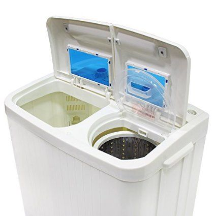 Amazon.com: Portable Compact Washer and Spin Dry Cycle with Built in Pump (33L Washer & 16L Spin Dryer): Appliances
