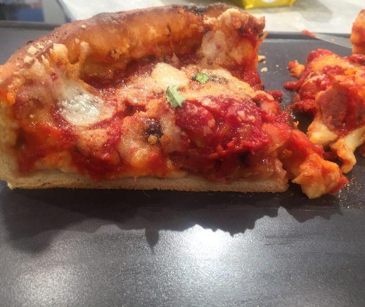 Πίτσα Σικάγο (Pizza Chicago) με αφράτη ζύμη