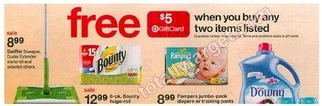 TARGET:  Pampers Jumbo Packs only $4.99 beginning Sunday, 2/10!!
