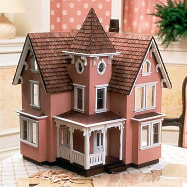 Ornate details meets a spectacular price with the Fairfield Dollhouse kit. Ever among our most popular offerings, the Fairfield may be the quintessential victorian dollhouse. Featuring six rooms inclu