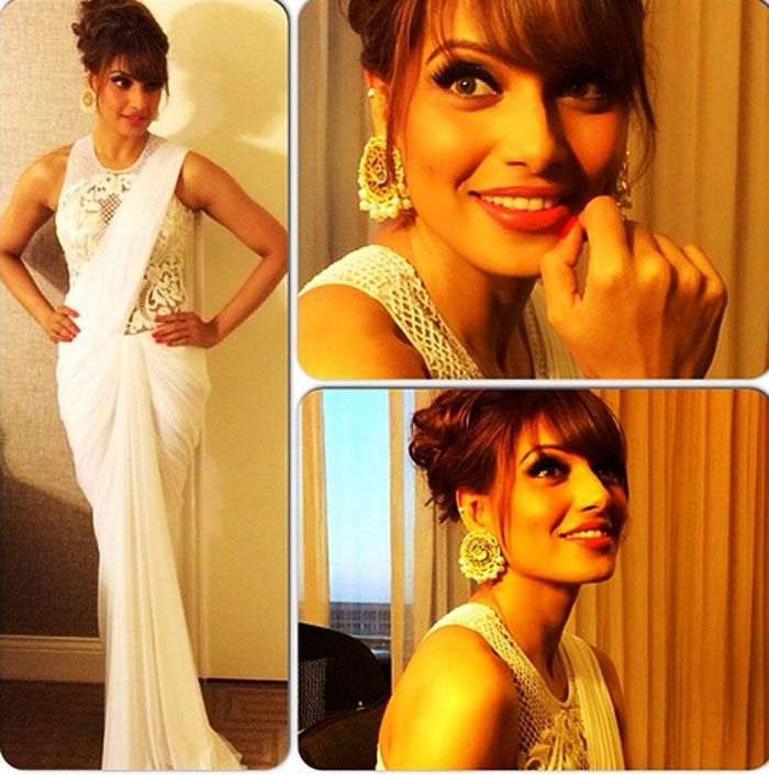 Raaj's Designer saree at IIFA 2014