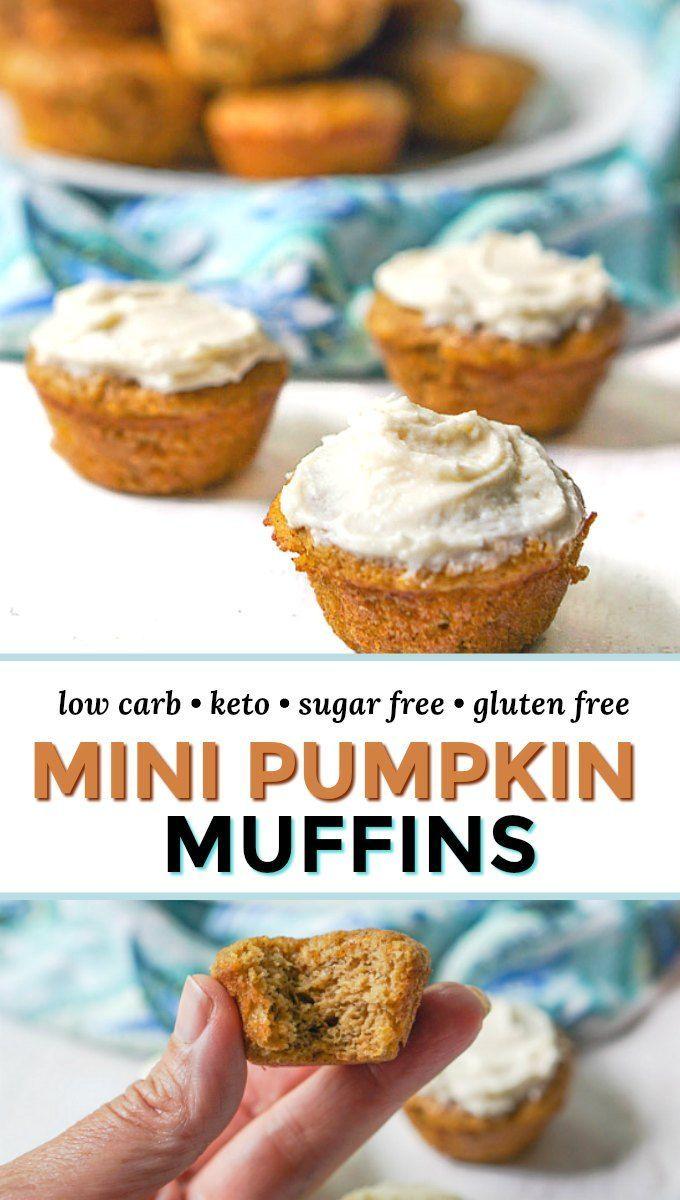 Mini Keto Pumpkin Muffins Sugar Free Gluten Free Recipe Low