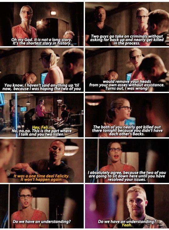 Arrow - Felicity, Oliver & Diggle #4.3 #Season4