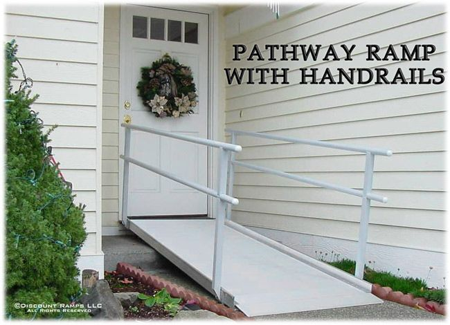 EZ Access Aluminum Wheelchair Ramps with Handrails