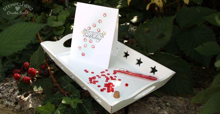Stampin Up-Stempelherz-Geburtstagskarte-Spiralkarte-Worte die gut tun-Birthday Blossoms-Spiralkarte Apfelbaum 10b