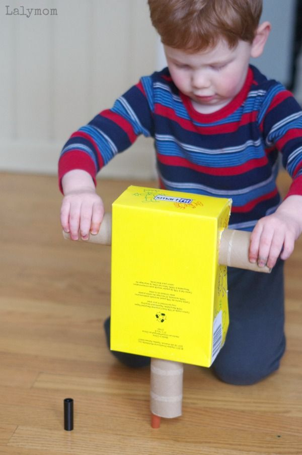 Cardboard Crafts - Easy Impact Hammer Construction Toy Made from Recycled Materials