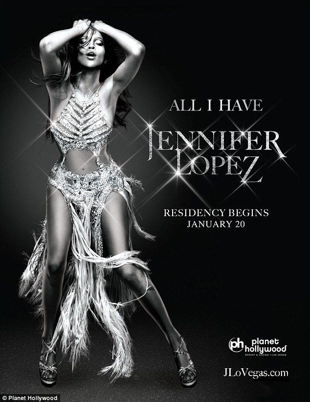 All I have: J. Lo revealed the artwork for her upcoming Las Vegas residency on Saturday. I...
