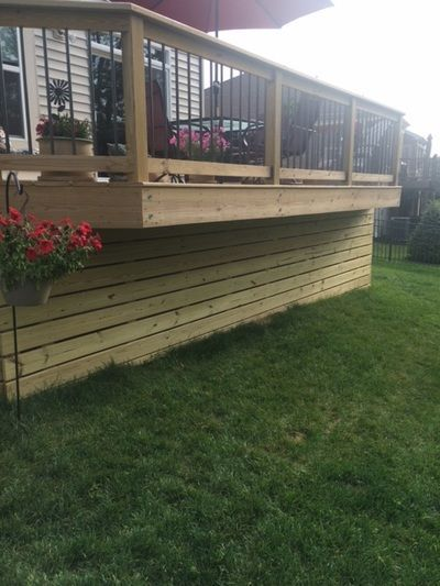 Deck Skirting Materials : Deck skirting under steps google search more