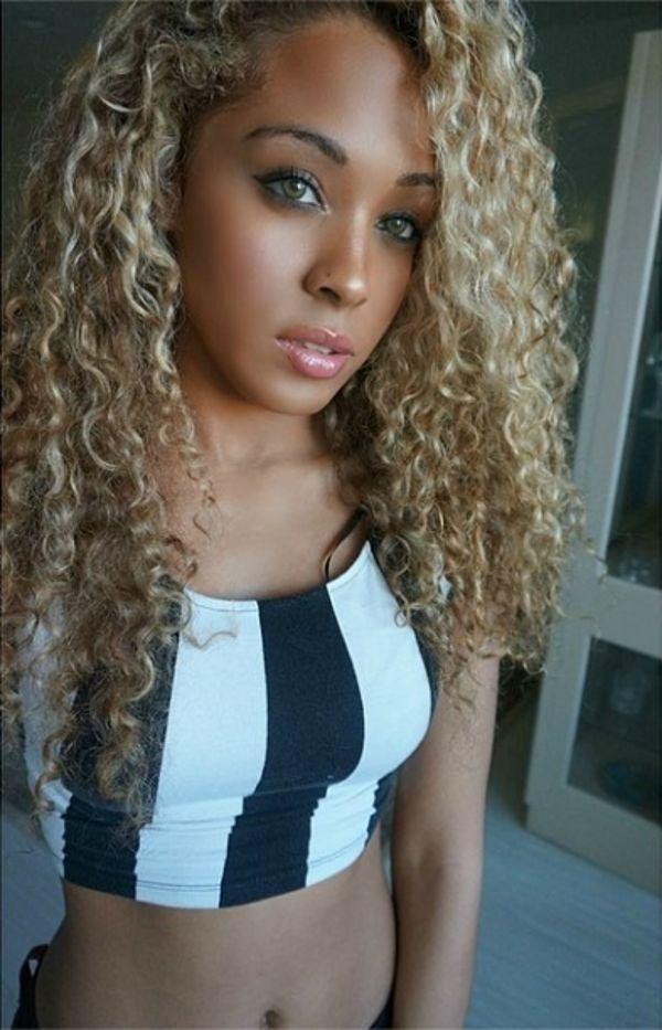girl porn Blonde hair black