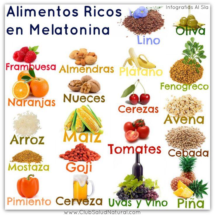 alimentos que contienen melatonina - Pesquisa Google