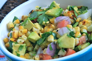 Grilled Corn and Avocado Salad: Avocado Salads, Yummy Recipes, Involvement Food, Corn Avocado Salad, Corn And Avocado Salad, Summer Salad, Favorite Recipes, Grilled Corn, Chocolates Blog