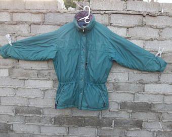 Vintage Jacket Patagonia Medium Oversized - Large 1980s 1990s 80s 90s Camping Hiking Parka Distressed Women Puffer Faded Rare Style Coat UK