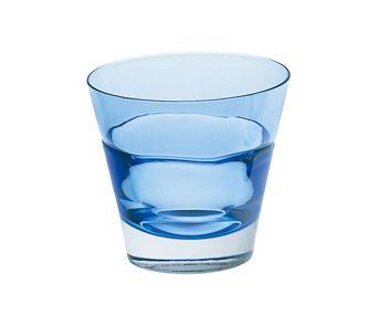 爽やかなブルーのロックグラス