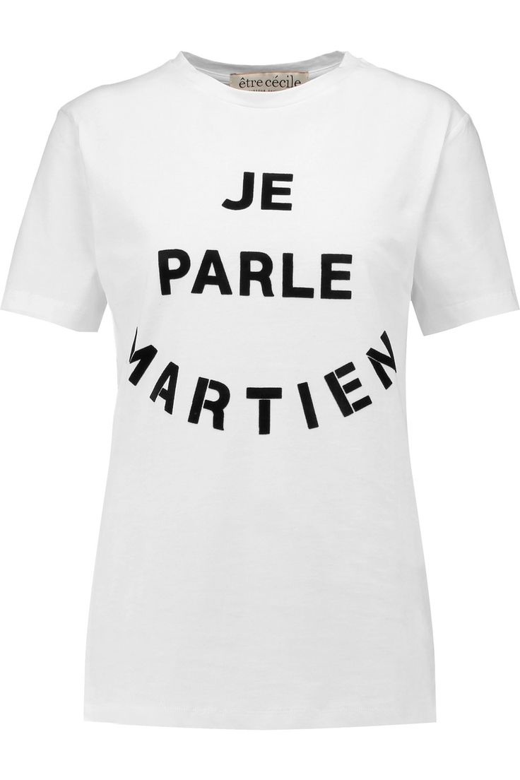 Jay z black t shirt white cross - Etre Cecile Velvet Appliqu D Cotton T Shirt Etrececile Cloth T