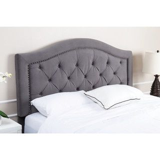 Abbyson Hillsdale Tufted Grey Velvet Headboard - Free Shipping Today - Overstock.com - 16997687 - Mobile