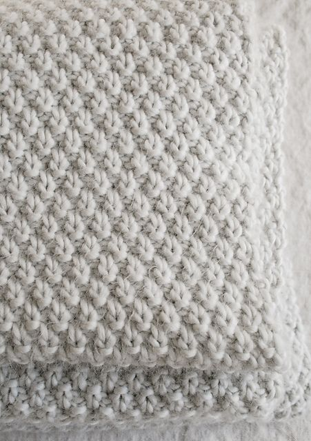 Ravelry: Double Seed Stitch Blanket - the purl bee pattern by Purl Soho