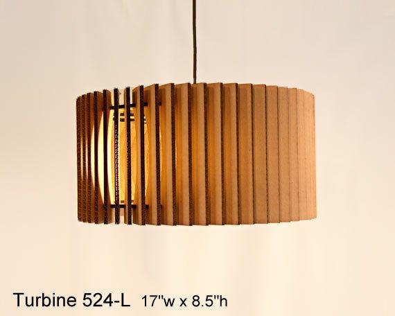 Pendant Lighting: Turbine 524-L -- laser cut cardboard lamp