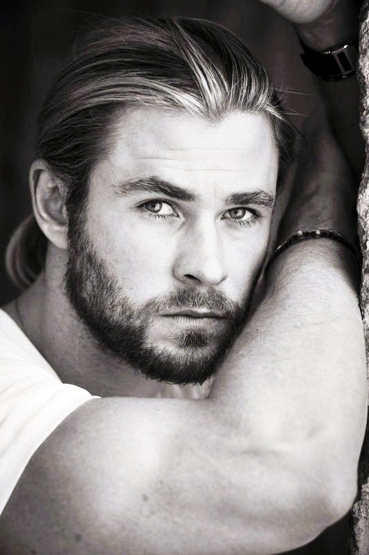 Chris Hemsworth (Damn, can this man rock a beard like no other!)