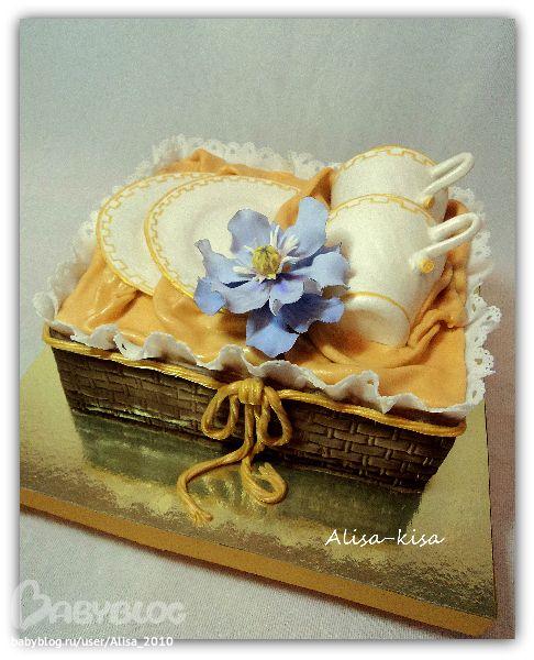 торт на фарфоровую свадьбу