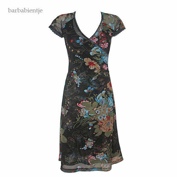 KING LOUIE - Stretch tule jurk met bloemen motief mt S
