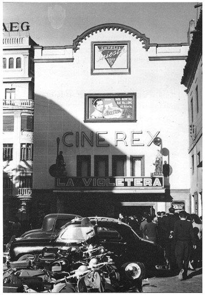 Murcia, Estreno en el Cine Rex de 'La Violetera' de Luis César Amador (1958)  Empresa Carceserna S.L