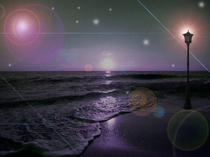 praia noturna