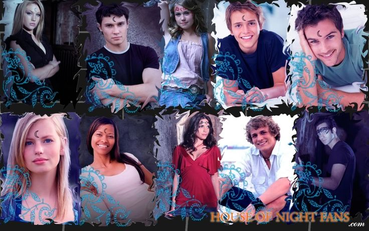 The House of Night characters with their tattoos. Aphrodite, Stark, Stevie Rae, Jack, Damien, Erin, Shaunee, Zoey, Heath and Eric.